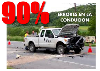 errores de conduccion, accidentes automovilisticos, conduccion defensiva